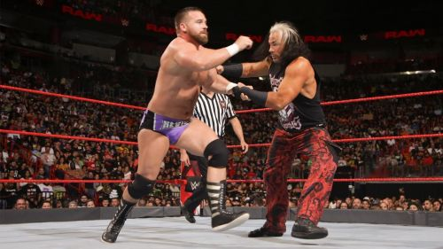 Matt Hardy and Bray Wyatt took on The Revival in a Tag Team Match