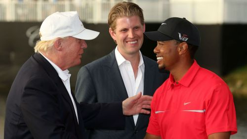Donald Trump Tiger Woods - cropped
