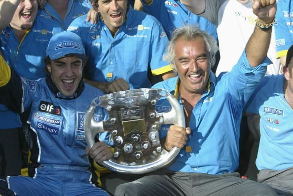 Fernando Alonso of Spain and Renault