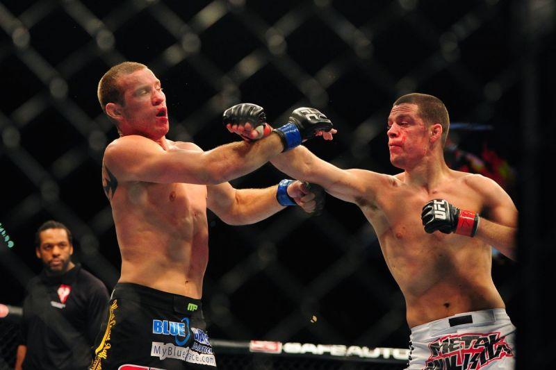 Diaz battered Donald Cerrone at UFC 141