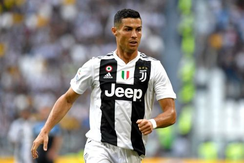 Cristiano Ronaldo playing his first home game in Juventus jersey against Lazio.