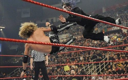 Jeff Hardy found himself facing long-time rival, Edge