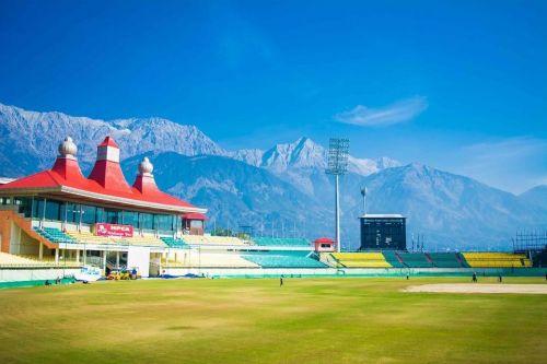 Image result for dharamshala cricket stadium