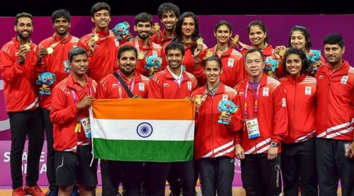 Image result for india badminton team cwg 2018