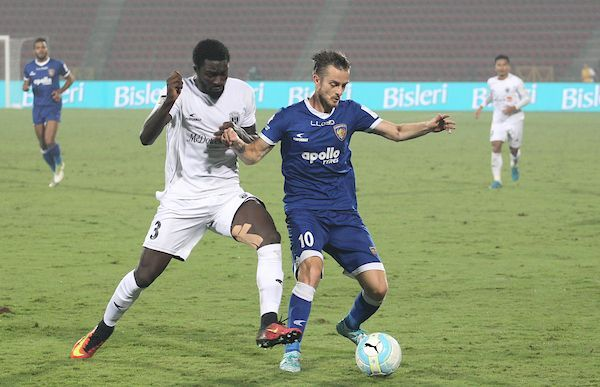 Rene Mihelic in action for former side Chennaiyin