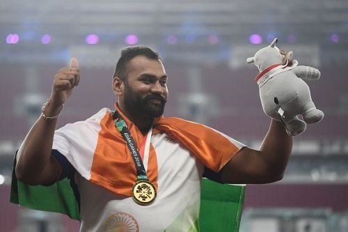 Tajinderpal Singh Toor with his Gold medal