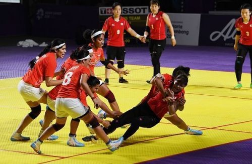 The Indian Women's kabaddi team won the match against Thailand with a ten points score difference