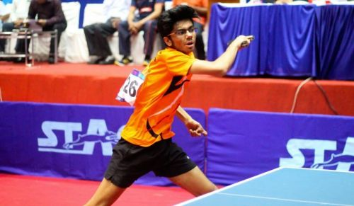 Manav Thakkar represented the Empowerji Challengers in the CEAT Ultimate Table Tennis tournament earlier this year