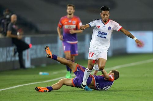 Seityasen Singh in action for former club Delhi Dynamos