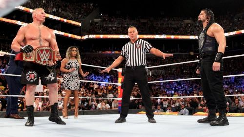 Lesnar defended his tittle against Roman Reigns at SummerSlam