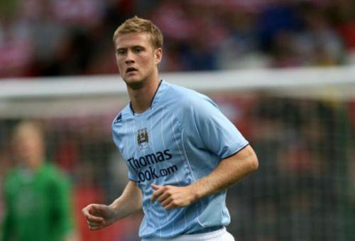 Matt Mills playing for Manchester City