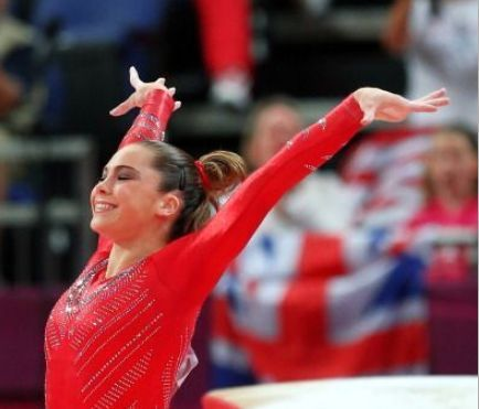 McKayla Maroney lands her vault attempt in the women's gymnastics team finals during the 2012 Summer Olympics in London, England