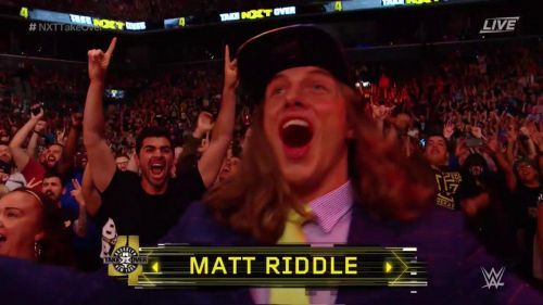 Image result for matt riddle appears at nxt takeover brooklyn