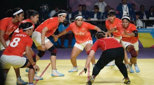 The Indian Women's kabaddi team entered the finals of the 2018 Asian Games