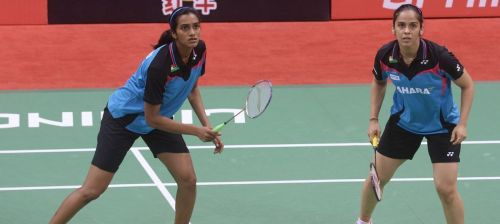 Saina and Sindhu playing together