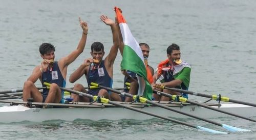 India won their first Gold in Rowing at the 2018 Asian Games