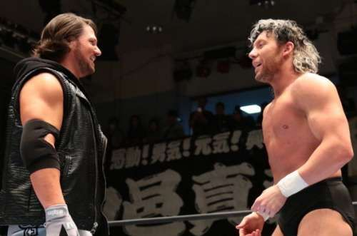 Kenny Omega and AJ Styles in NJPW