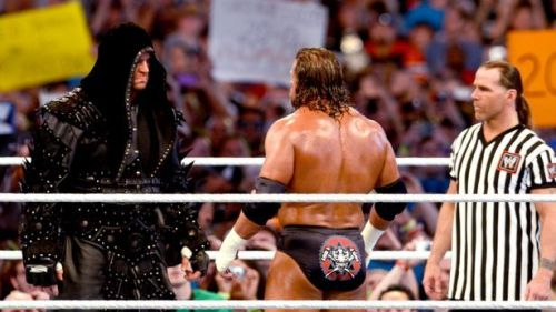 Image result for shawn michaels wrestlemania 27 as a special guest referee