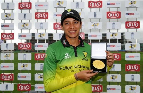 Cricket these days involves another routine for Mandhana - collecting