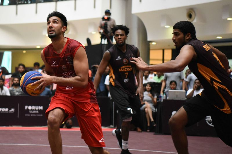 Kiran Shastri in action against the Bangalore Machas