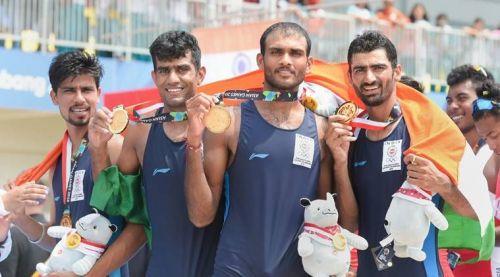 Indian Men's rowing team members