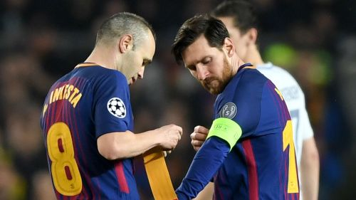 Andres Iniesta and Lionel Messi