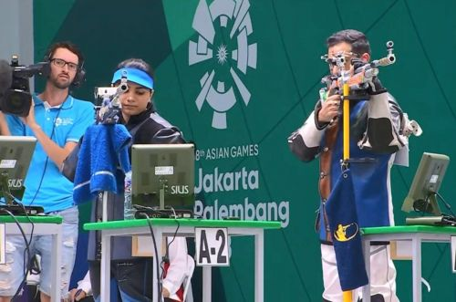 Apurvi Chandela and Ravi Kumar bag Bronze in the 10m Air Rifle Mixed Team event to open the medals tally for India.