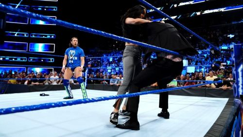 Brie Bella attacked The Miz, while Maryse retreated