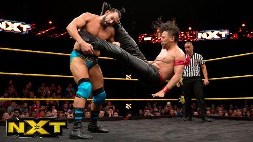 Tye Dillinger vs Shinsuke Nakamura for the US Title