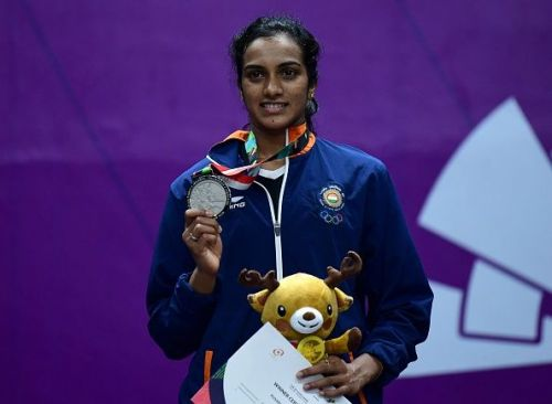 PV Sindhu won the silver medal in the women's singles event, losing to Chinese Taiper's Tai Tzu Ying in the final