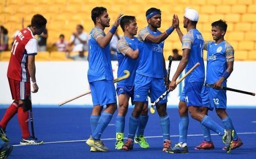 Defending champions India continued their goal-scoring spree and spanked Japan 8-0 to register their third consecutive win