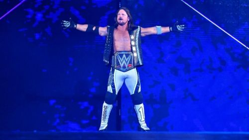This is AJ Styles' second reign as WWE champion