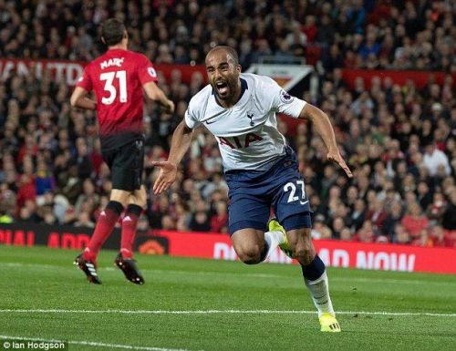 Lucas Moura scored 2 goals against Manchester United.