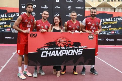 The Delhi Hoopers - Champions of Round 5 in Bangalore [Image Credits: 3x3BL]