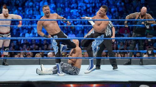 The Triple Threat Tag Team Match saw the return of the Colons to action!