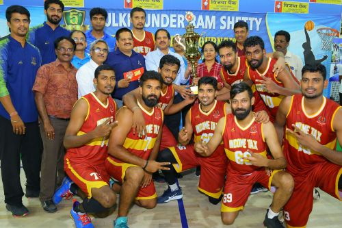 Income Tax crowned champions of the 5th Mulki Sunder Ram Shetty All India Basketball Tournament
