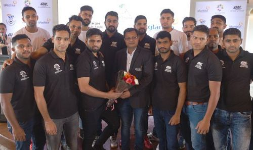 India Men's handball team during send-off to the Asiad