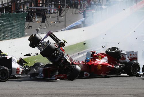The Belgian GP has seen a number of crashes