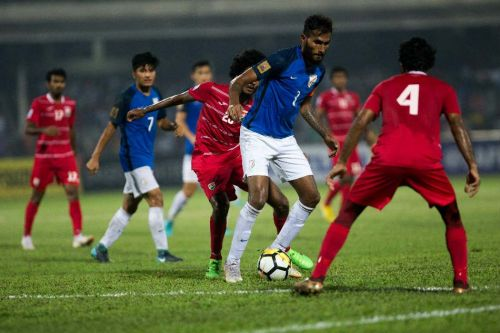 Maldives shattered the defending champions' dream of clinching their record eighth SAFF title