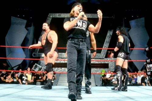 HBK surprisingly joined forces with the nWo