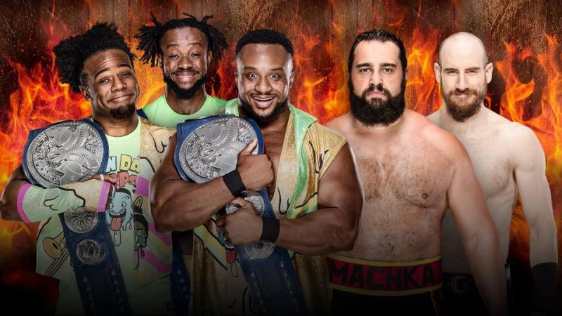 New Day vs. Rusev Day Hell in a Cell