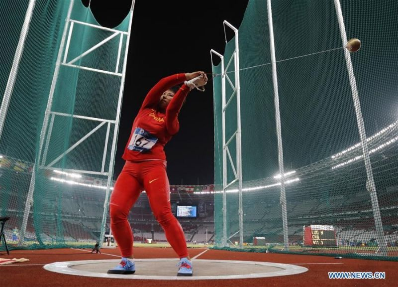 Luo Na (CHN) - Hammer Gold medalist (Image Courtesy: Xinhua Sports)