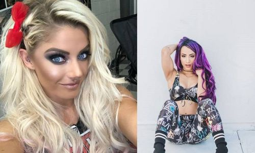 Alexa Bliss and Sasha Banks (right) aren't the best of friends outside the ring either