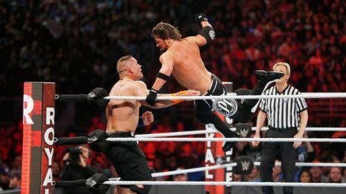 (Courtesy: WWE.com) AJ Styles vs John Cena for the WWE Championship at Royal Rumble 2017