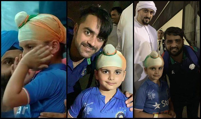 Afghanistan boys solaced the little Indian supporter