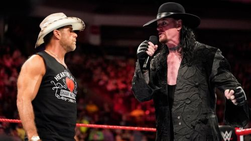 Shawn Michaels pictured here with The Undertaker