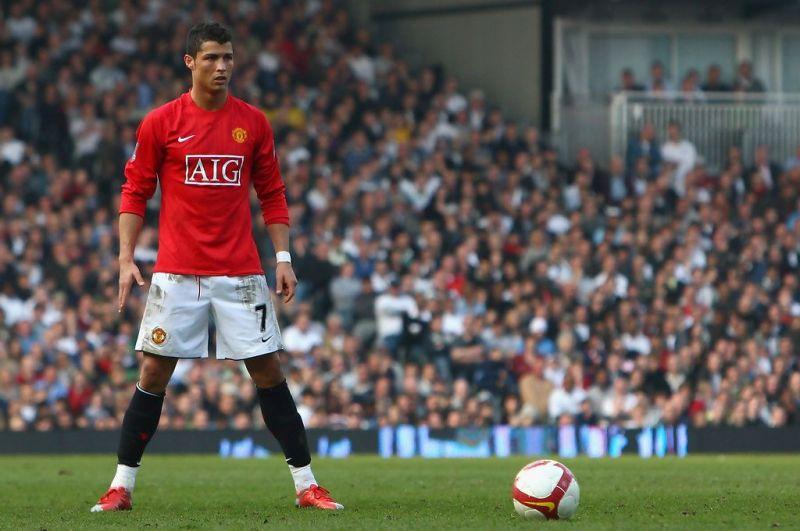 Cristiano Ronaldo prepares to take one of his trademark free kicks