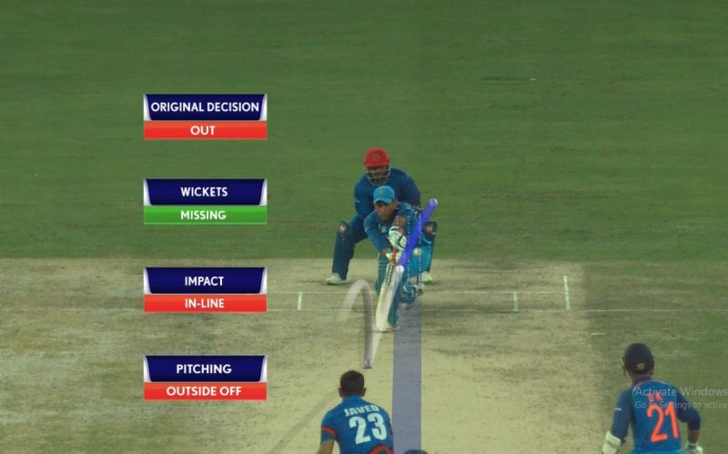 The ball was missing the leg stump by about two inches