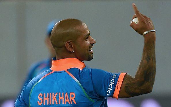 Dhawan took four catches against Bangladesh