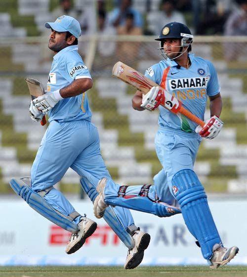 Suresh Raina and MS Dhoni stitched 166-run partnership